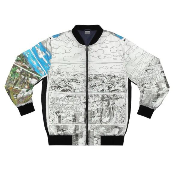 Cool Art Bomber Jacket 20  Retro custom gift aesthetic line image 0