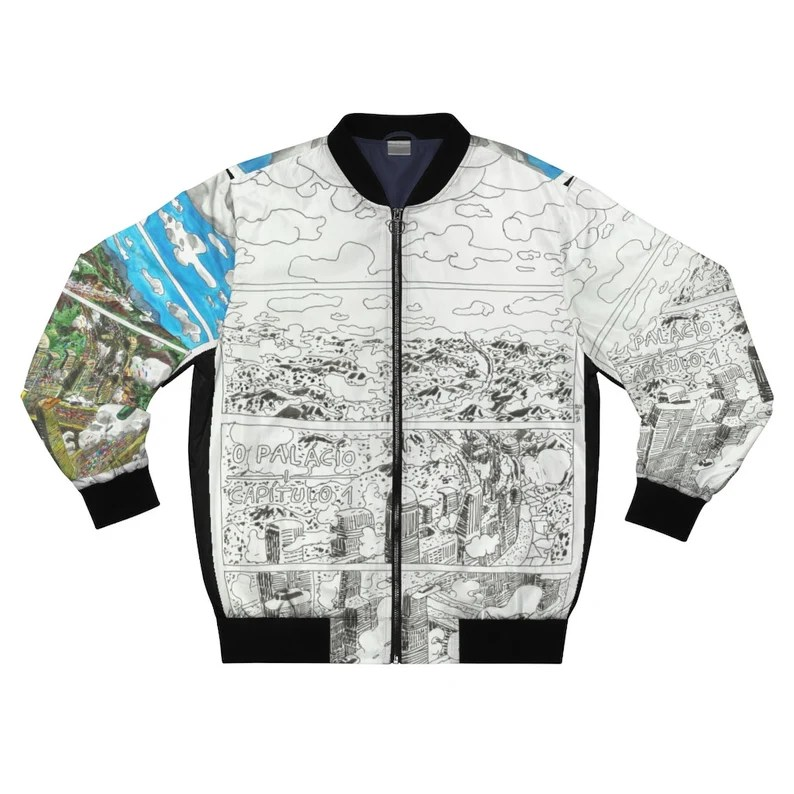 Urban Art Bomber Jacket 20  Retro custom gift aesthetic line image 0