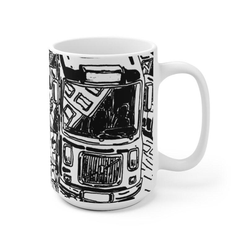 Urban Art Mug 2 sizes 46  Retro custom gift unique mugs image 0