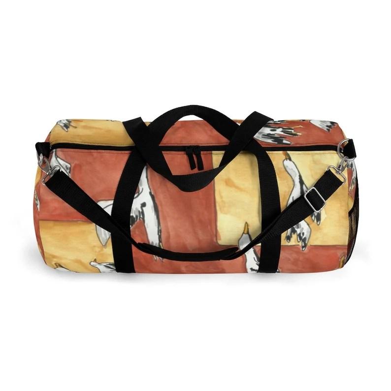 Cool Art Duffel Bag 2 sizes 9  Retro custom gift backpacks image 0