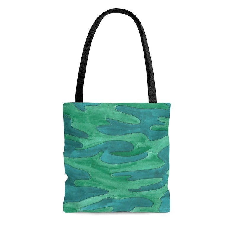 Cool Art Tote Bag 3 sizes 13  Retro custom gift aesthetic image 0