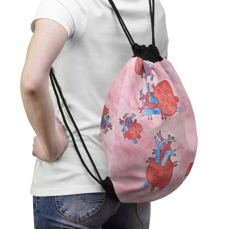 Cool Art Drawstring Bag 3  Retro custom gift aesthetic pop image 0
