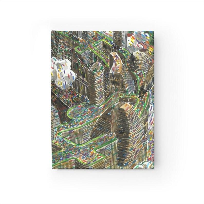 Blank Journal With Urban Art Cover 33  Retro custom gift image 0