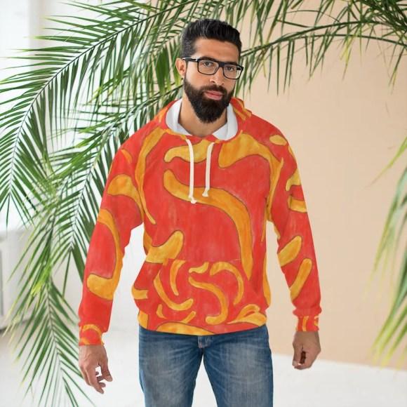 Cool Art Unisex Pullover Hoodie 2  Retro custom gift hoodies image 0