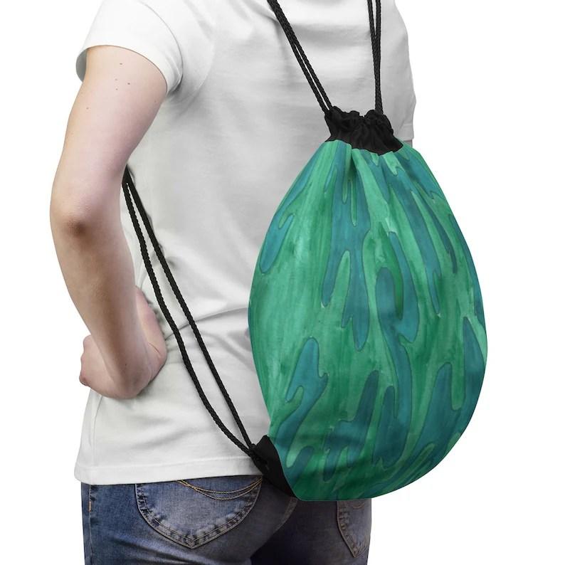 Cool Art Drawstring Bag 2  Retro custom gift aesthetic pop image 0