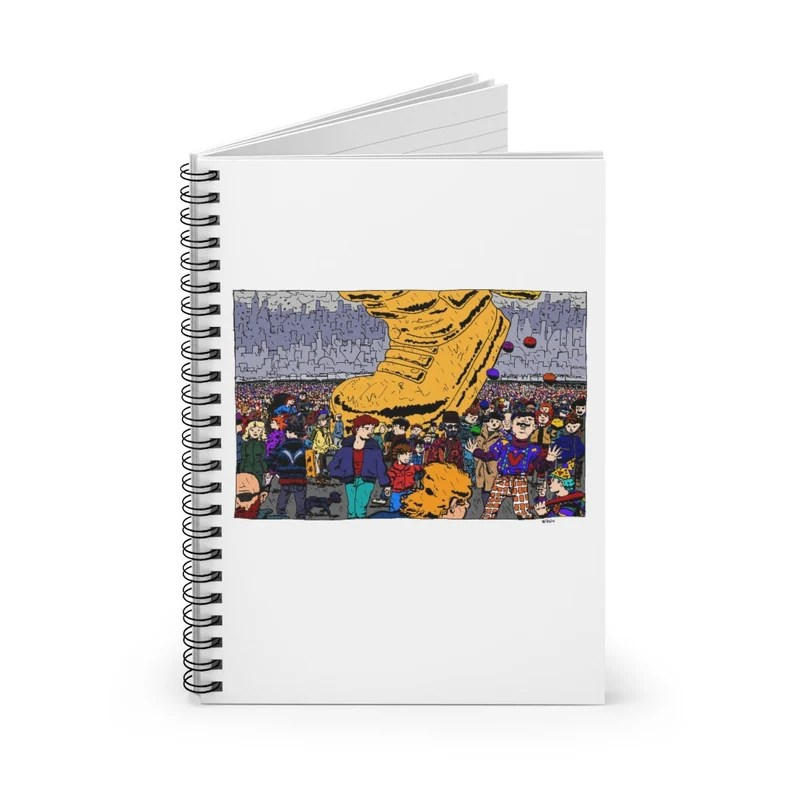 Ruled Line Spiral Notebook With Urban Art Cover 31  Retro image 0