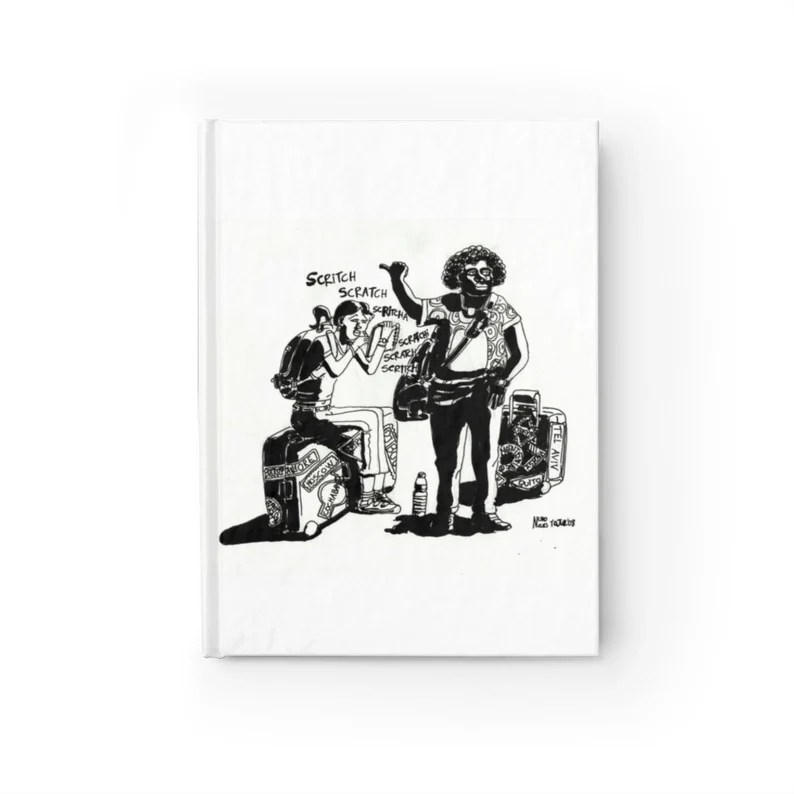 Blank Journal With Cool Art Cover 1  Retro custom gift imagem 0