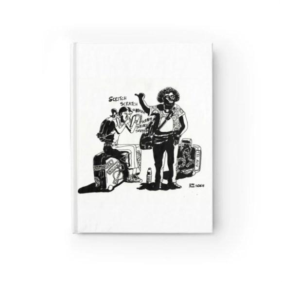Blank Journal With Urban Art Cover 1  Retro custom gift image 0