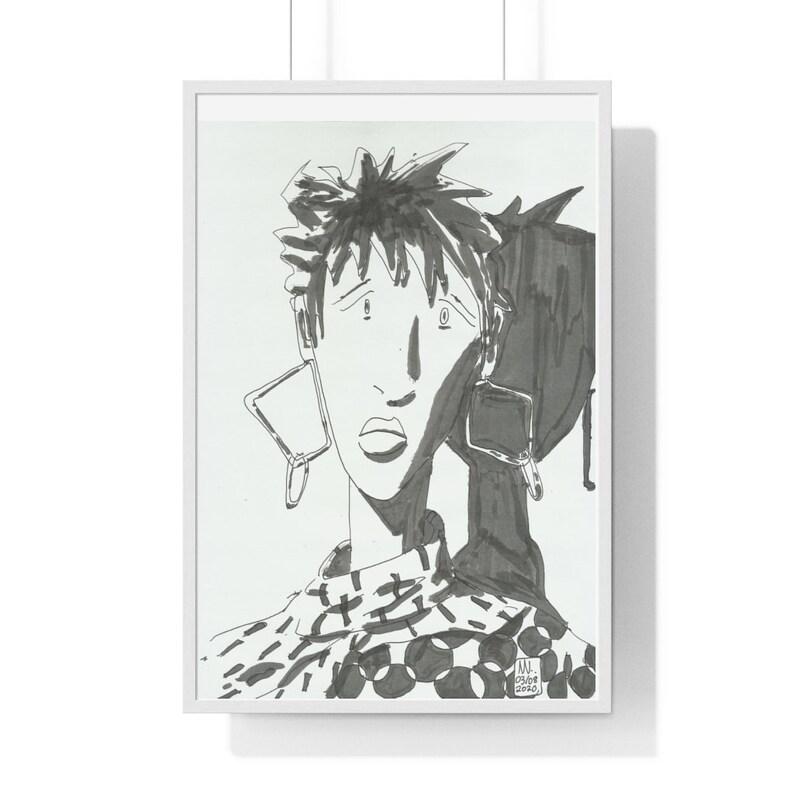 Cool Art Framed Poster 51  Retro custom gift urban pop image 0