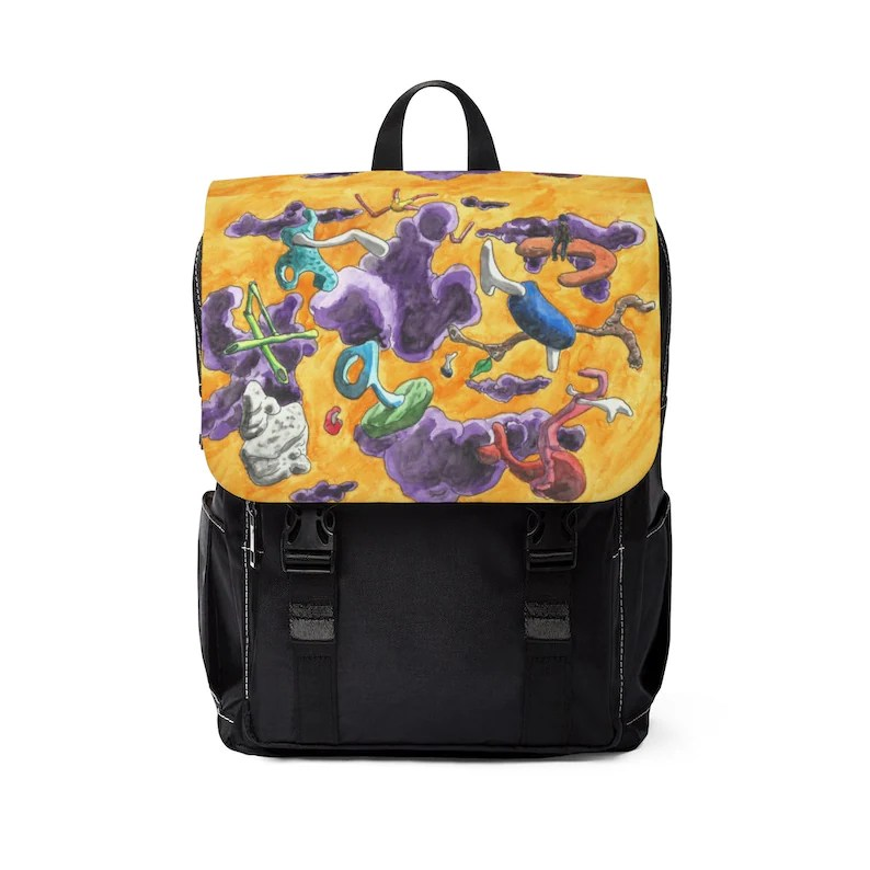 Urban Art Canvas Mini Backpack 12  Retro custom gift image 0