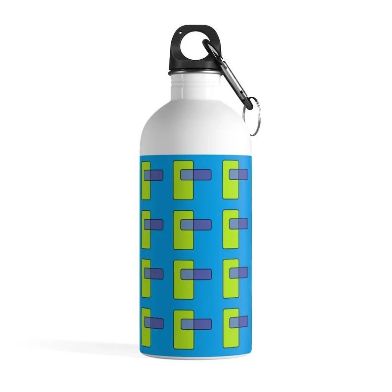 Cool Art Water Bottle 29  Retro custom gift pop art line image 0