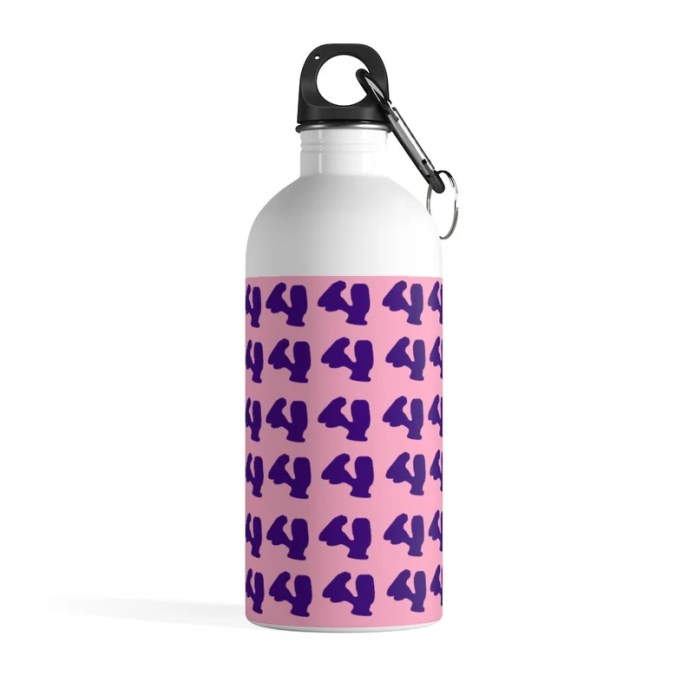Cool Art Water Bottle 30  Retro custom gift pop art line image 0
