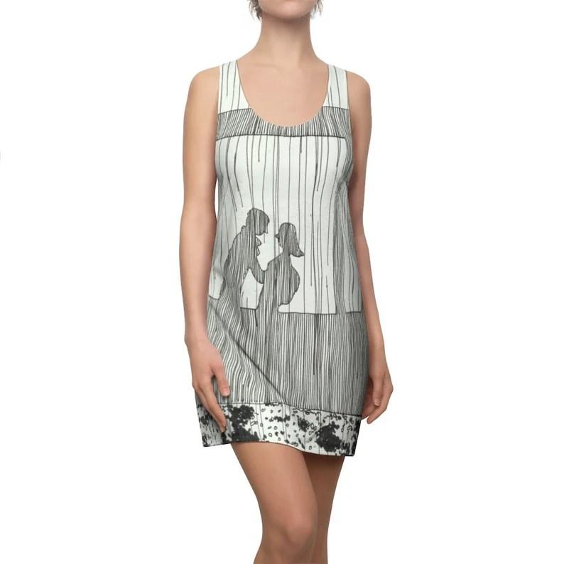 Urban Art Racerback Dress 1  Retro custom gift  dresses image 0