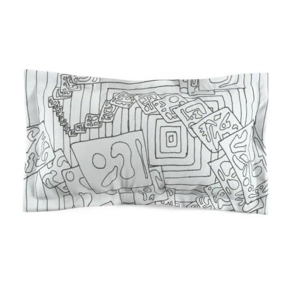 Cool Art Microfiber Pillow Sham 14  Retro custom gift image 0