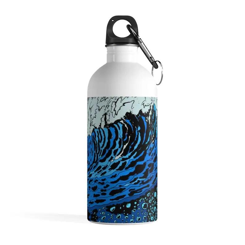 Urban Art Water Bottle 21  Retro custom gift pop art line image 0