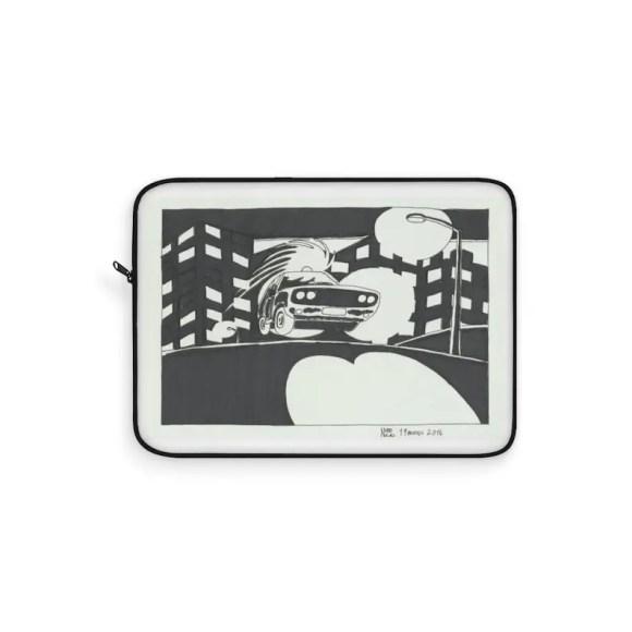 Cool Art Laptop Sleeve 5  Retro custom gift line art pop image 0