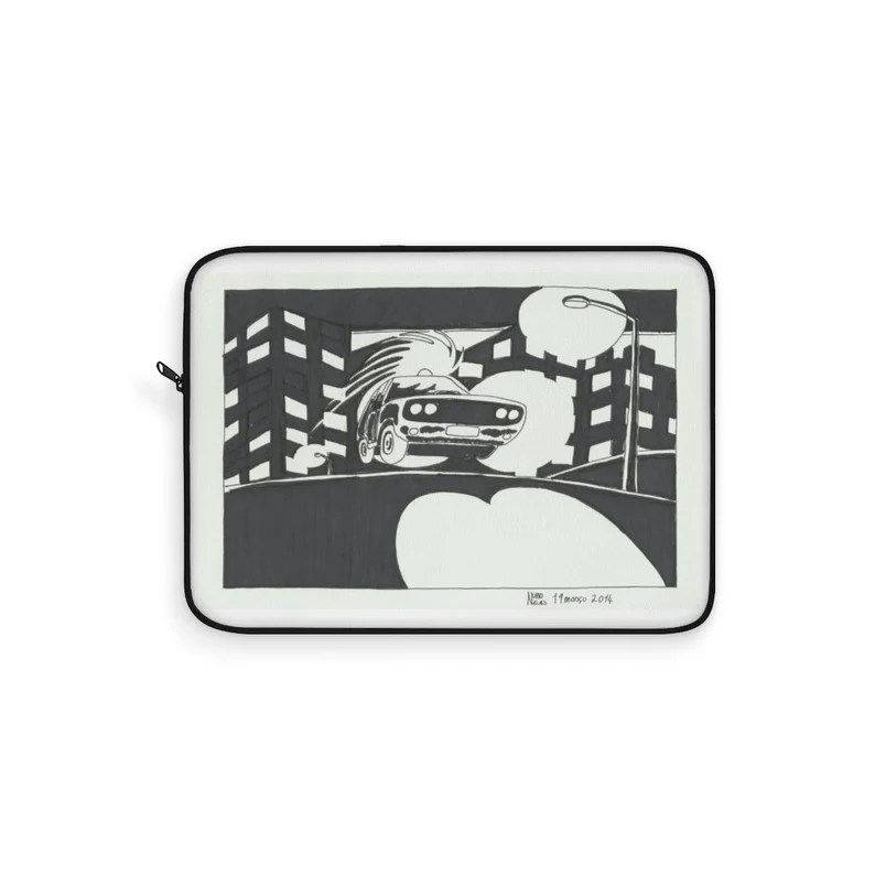 Cool Art Laptop Sleeve 5  Retro custom gift line art pop image 0
