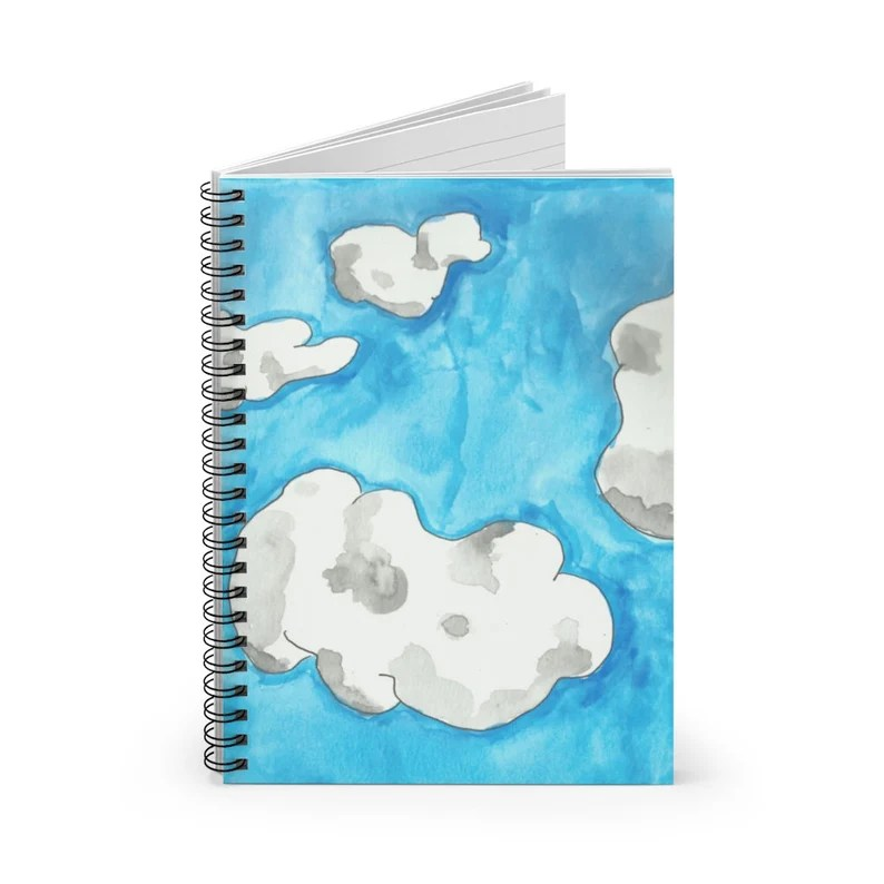 Ruled Line Spiral Notebook With Cool Art Cover 12  Retro image 0