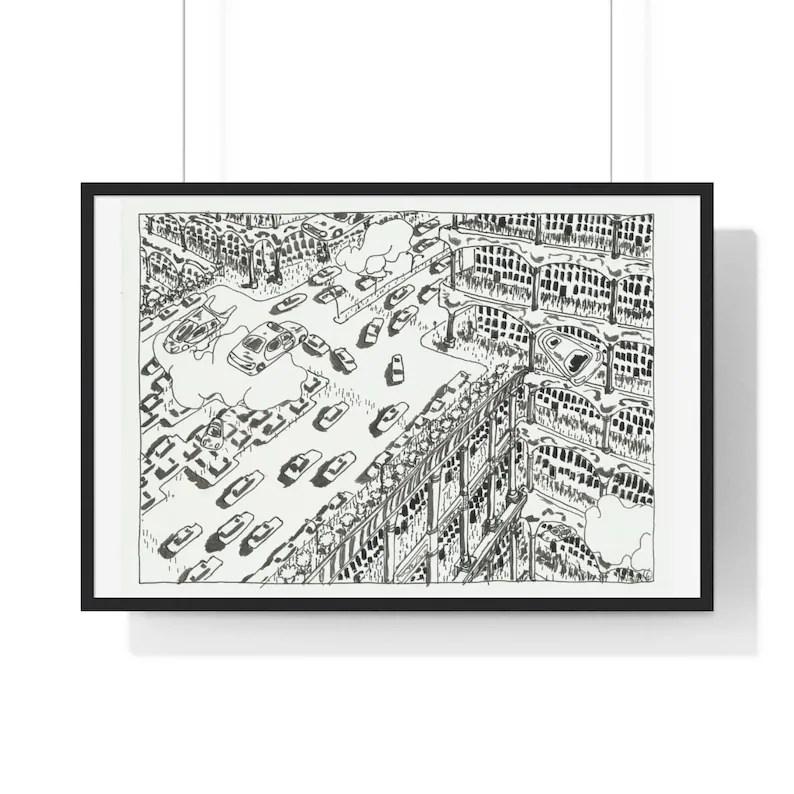 Cool Art Framed Poster 49  Retro custom gift urban pop image 0