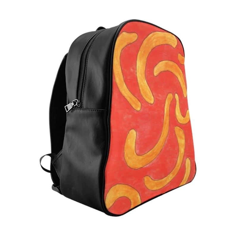Urban Art PU Leather Backpack 3 sizes 13  Retro custom gift image 0