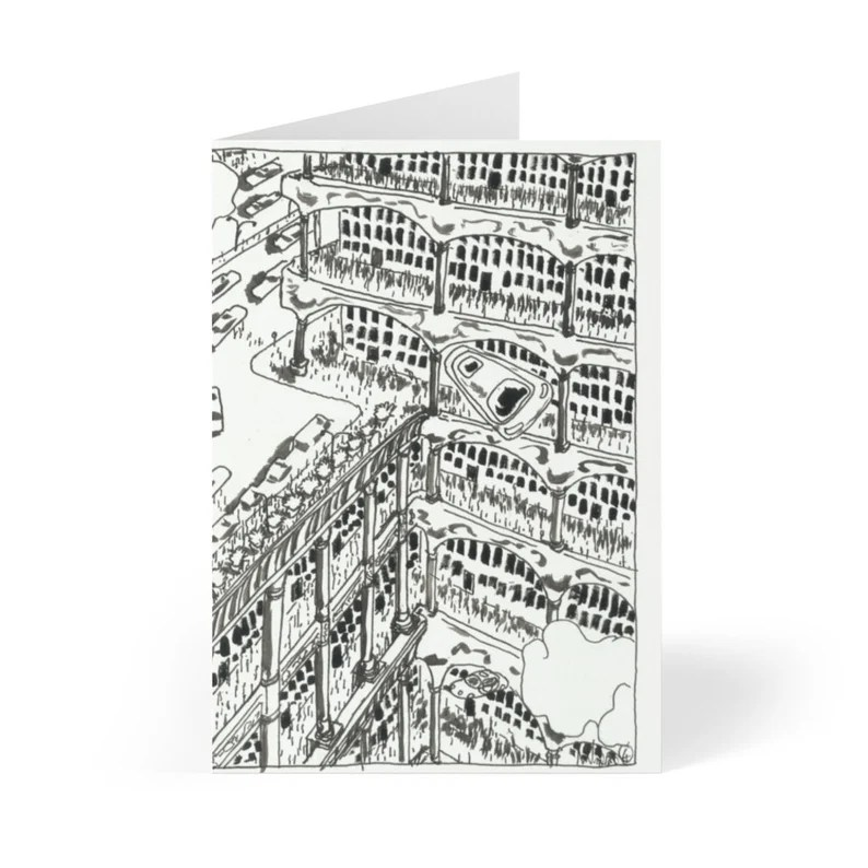 Handmade Urban Art Cards With Envelopes 14  Retro custom gift image 0