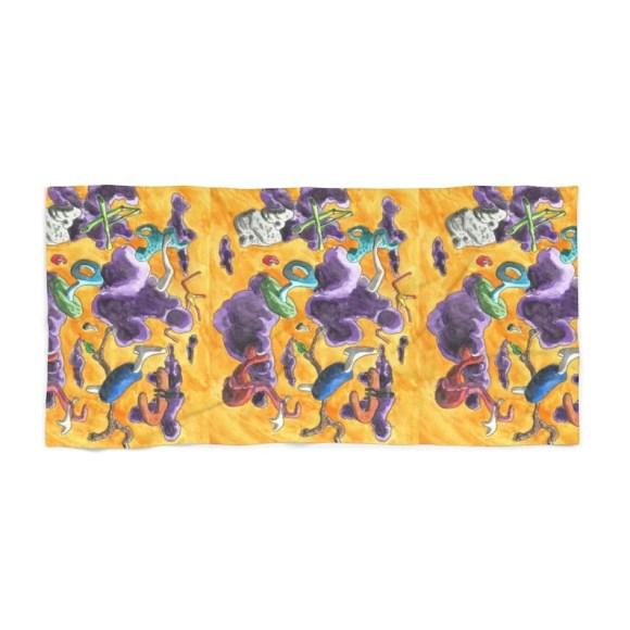 Cool Art Beach Towels 8  Retro custom gift designer image 0