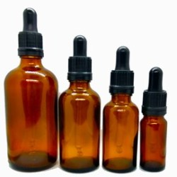 Amber Glass Dropper Bottle Etsy