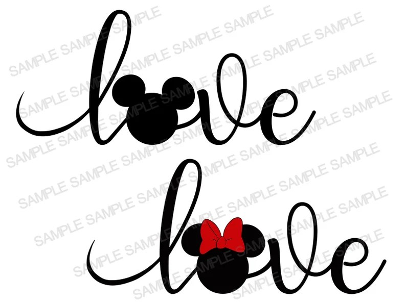 Download Mickey Mouse SVG Love Mickey SVG Love Mickey Mouse Love ...