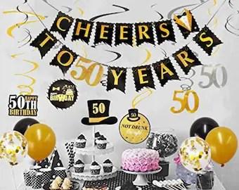 50th Birthday Party Decorations Etsy