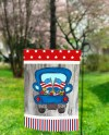 Sublimation Garden Flag Red White Blue Faux Wood Patriotic Etsy