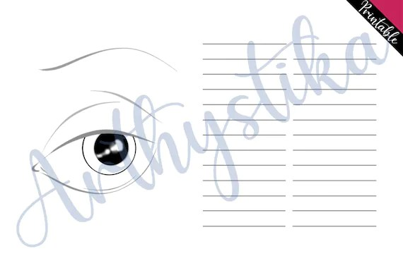 Eye Makeup Face Chart Template