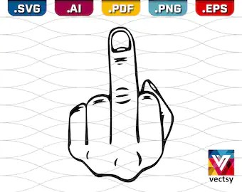 Download Flip Off Finger Svg Cut Files Free Download : Middle ...