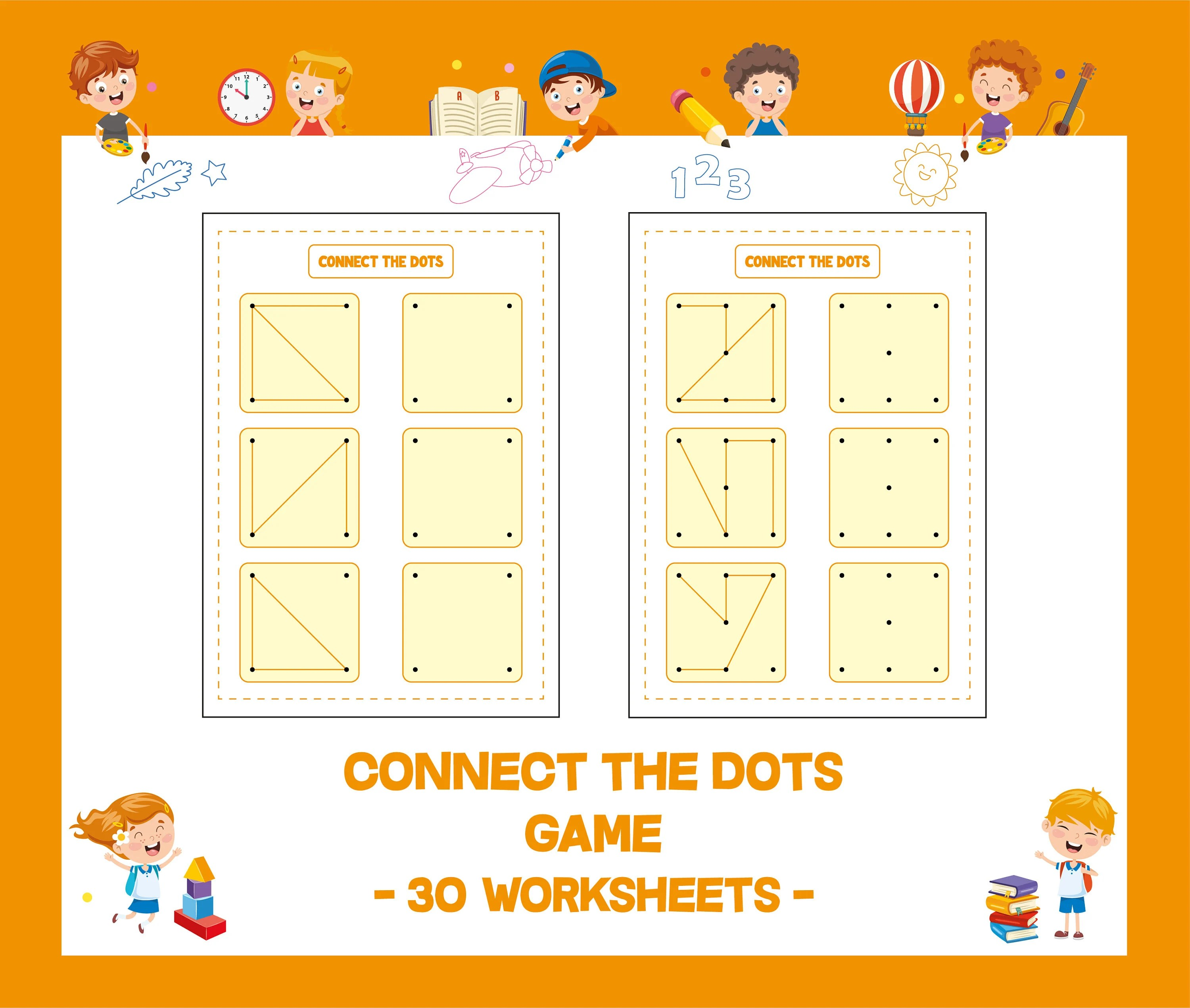 Connect The Dots Game Printable Worksheet Homework