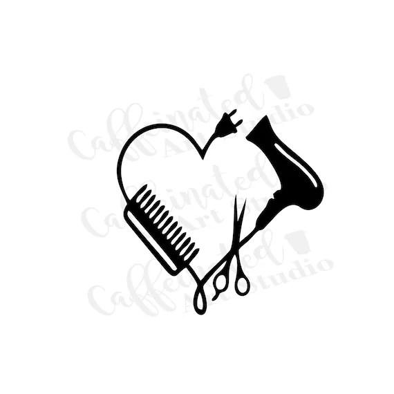 Download Hairdresser mask svg / hairdresser heart svg / blow dryer ...