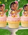 Baby Moana Cupcake Etsy