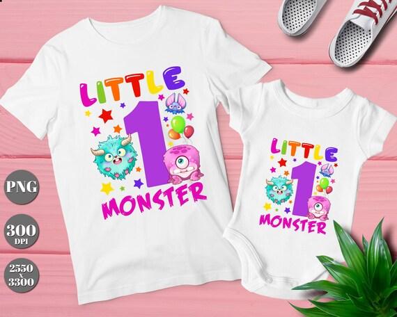 Kleine Monster Ersten Geburtstag T Shirt Transfer Lustige Etsy