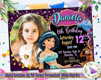 jasmine invitation etsy