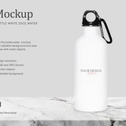20oz White Insulated Water Bottle Sublimation Insulated Etsy