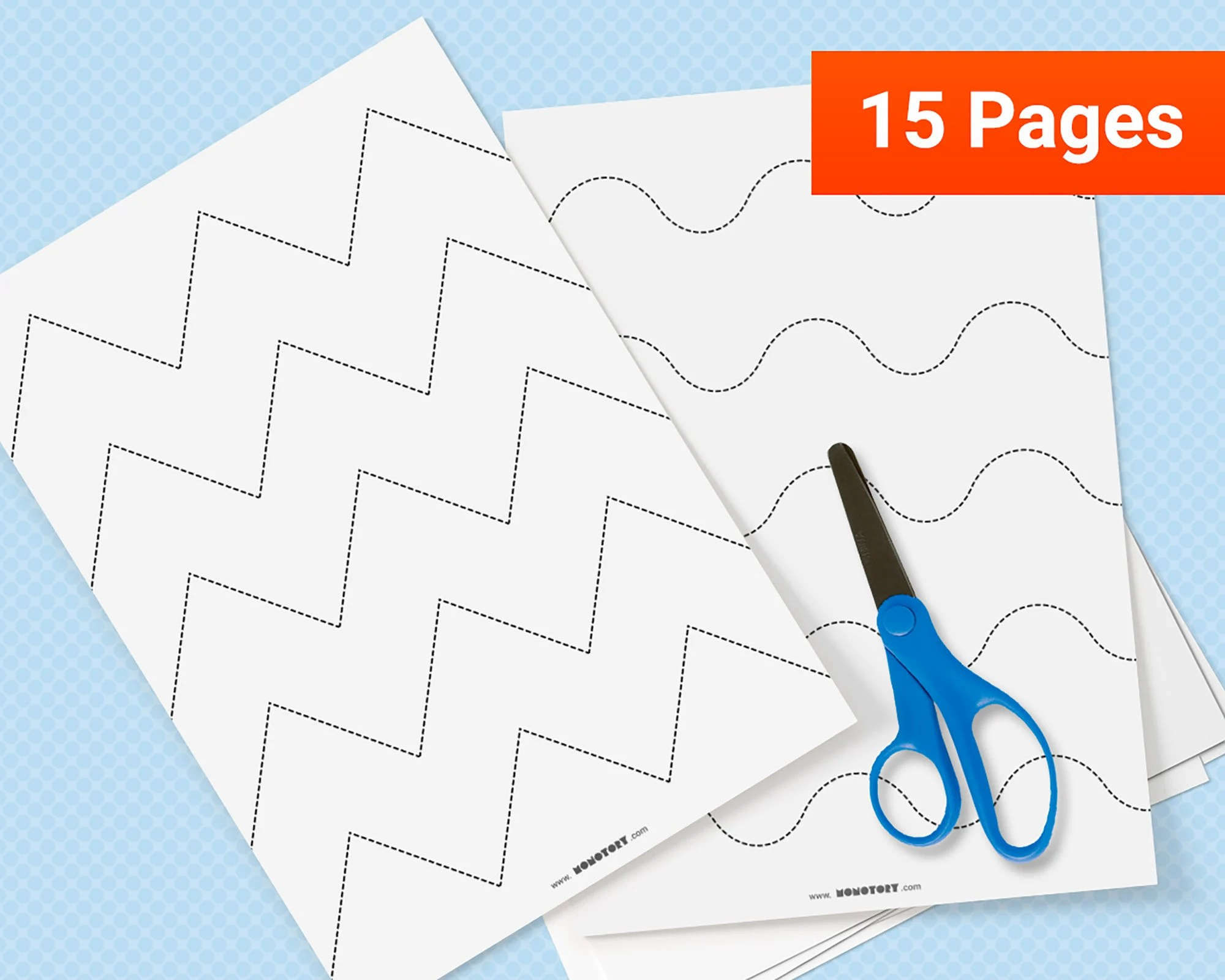 Scissor Skills Cutting Practice Worksheets
