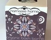 Third Eye Bath Bomb 6th Chakra Activating Calming Aromatherapy Blend USDA Organic Handmade Large Fizzy Bath Bomb 160g by Namaste Home