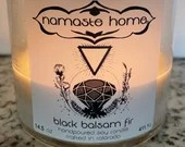 Black Balsam Fir Candle by Namaste Home, Camping Candle, Cozy Cabin Candle, Fall and Winter Candle, Nature Inspired Candle, Woods Candle