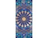 Water Mandala Yoga Mat, Original Art Sublimation Yoga Mat, Tesselations, Sacred Geometry, Water Element, Excersize Mat, Yoga Mat
