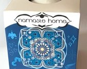 Cooling Bath Bomb, Peppermint USDA Organic Gourmet Handcrafted Throat Chakra Activating Fizzy Bath Bomb Large 160g by Namaste Home