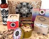 Sagittarius Gift Set, Spa Bundle, Bath Bomb, Handmade Bar Soap, Candle with Rose Quartz, Aromatherapy Lotion, Pampering Gift Set