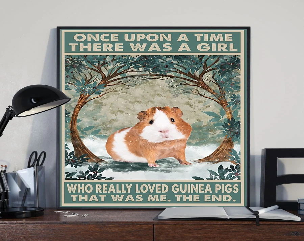 guinea pig poster etsy
