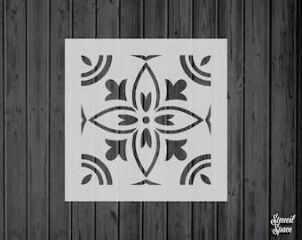 6x6 tile stencil etsy