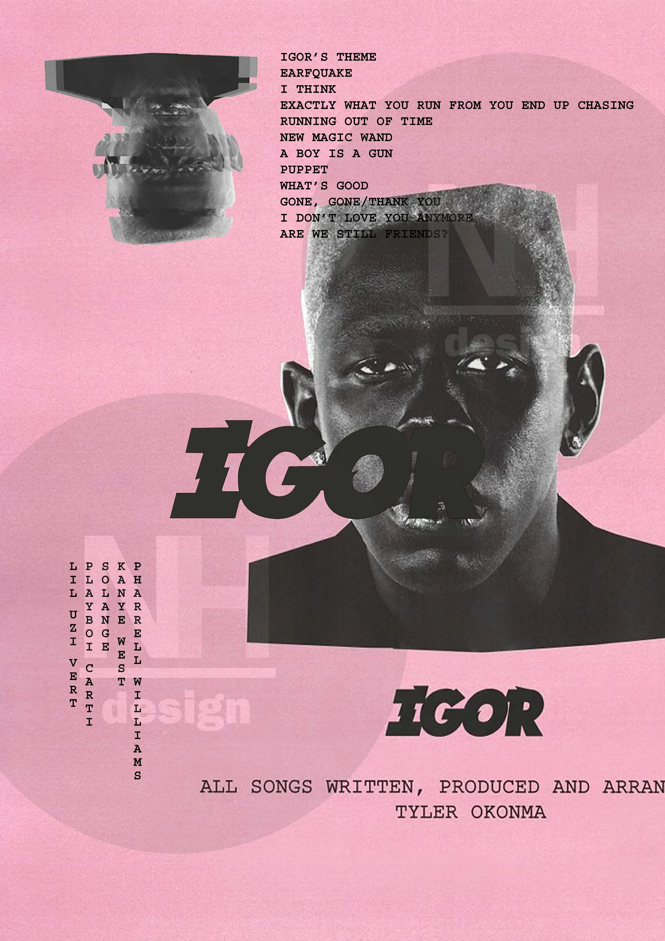 tyler the creator igor poster poster cover art home wall decor music album artwork a2 a3 a4 digital download any size