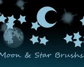 Moon and star brushset