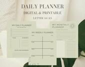 Daily Planner, Personal Planner, Minimalist Planner, Printable Planner, Digital Daily Planner, Daily Planner 2020, Undated Planner