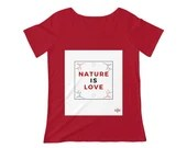 Nature is Love - Women's Scoop Neck T-shirt